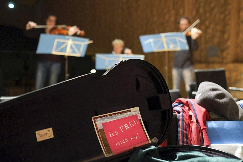 Probe für die Eröffnung - Kleiner Saal in der Elbphilharmonie